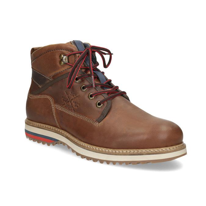 Pánská zimní kotníčková obuv bata, hnědá, 896-3677 - 13