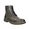 Kožená kotníčková obuv bata, šedá, 896-2686 - 13