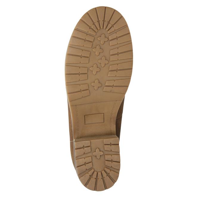Kotníčková obuv s kožíškem bata, hnědá, 591-4618 - 19