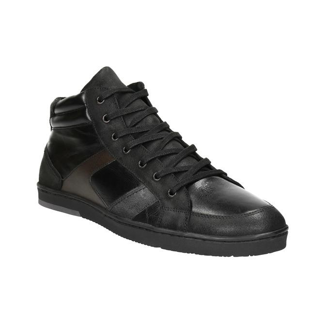 Kožené pánské kotníčkové tenisky bata, černá, 844-6644 - 13