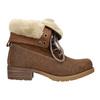 Kotníčková obuv s kožíškem bata, hnědá, 591-4618 - 15