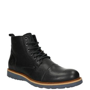 Pánská kožená kotníčková obuv bata, černá, 896-6667 - 13