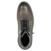 Kožená kotníčková obuv bata, šedá, 896-2686 - 26