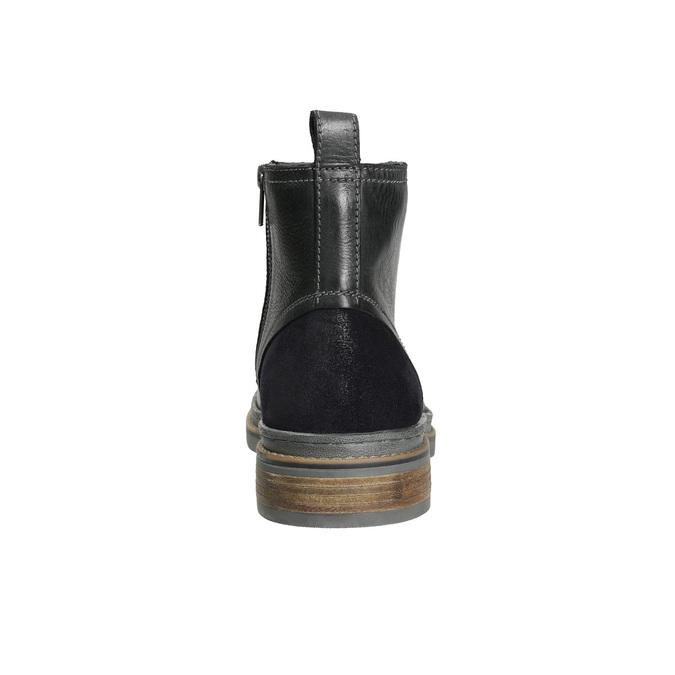 Kožená kotníčková obuv zimní bata, černá, 896-6685 - 17
