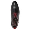 Kožené polobotky s červenými detaily conhpol, černá, 824-6993 - 15