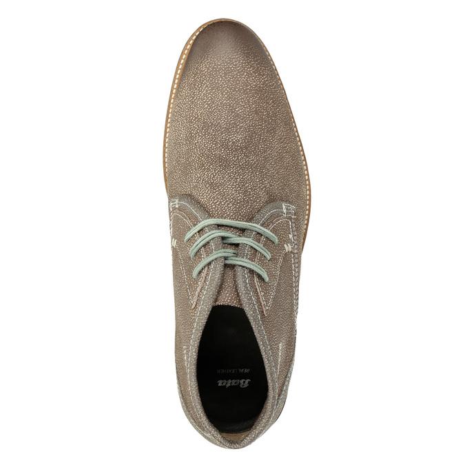 Kotníčková pánská obuv s prošíváním bata, hnědá, 826-4920 - 15