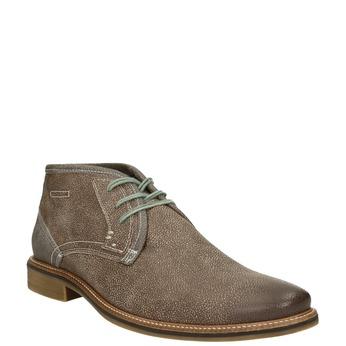 Kotníčková pánská obuv s prošíváním bata, hnědá, 826-4920 - 13