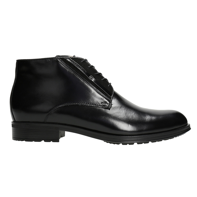 Kožená pánská obuv se zateplením conhpol, černá, 894-6700 - 26