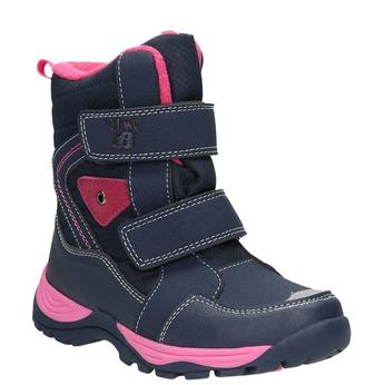 Dívčí zimní boty na suché zipy mini-b, modrá, 491-5653 - 13