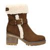 Dámská zimní obuv s přezkou bata, hnědá, 699-4637 - 15