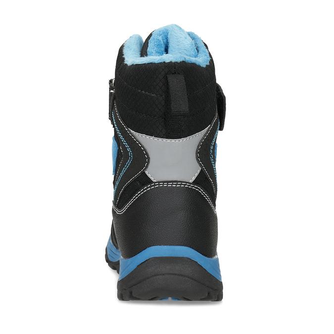 Dětská zimní obuv na suché zipy mini-b, černá, 491-6653 - 15