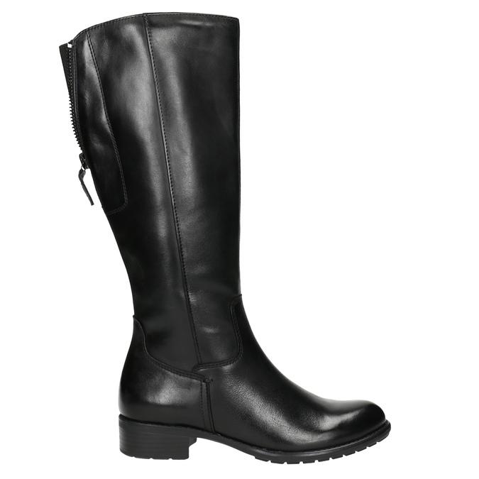 Dámské kožené kozačky černé bata, černá, 596-6604 - 15