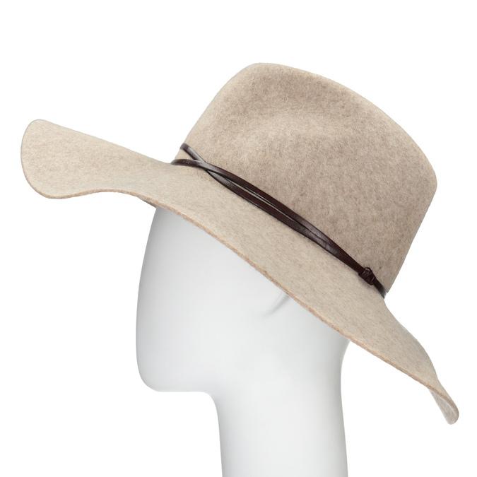 Dámský vlněný klobouk tonak, béžová, 909-8652 - 26