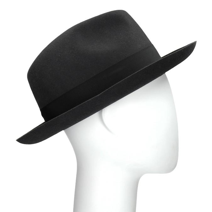 Černý pánský klobouk tonak, šedá, 909-2646 - 13