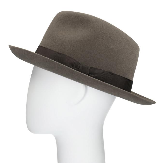 Pánský hnědý klobouk s mašlí tonak, hnědá, 909-3648 - 26