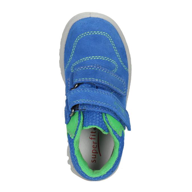 Kožená dětská obuv na suché zipy superfit, modrá, 113-9036 - 15
