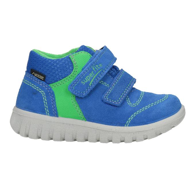 Kožená dětská obuv na suché zipy superfit, modrá, 113-9036 - 26