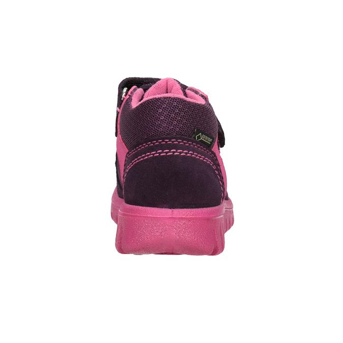 Kožená dětská kotníčková obuv superfit, fialová, 123-5036 - 16
