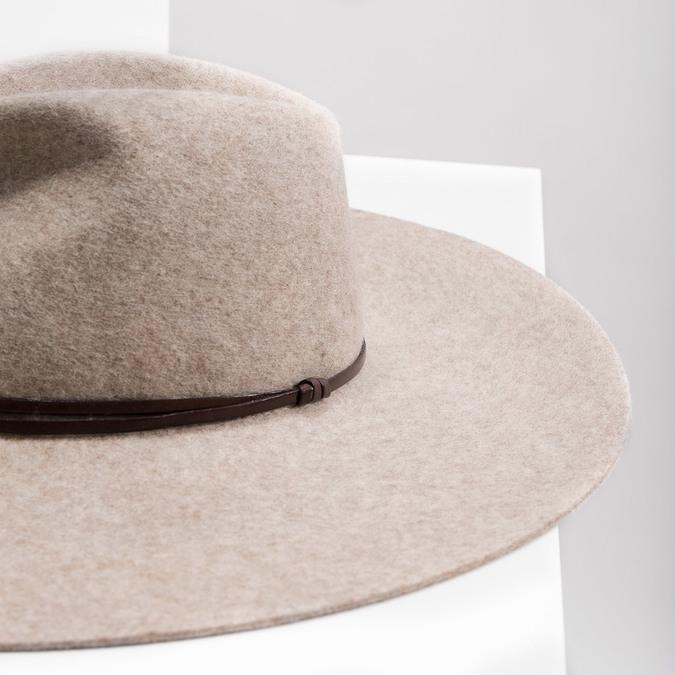 Dámský vlněný klobouk tonak, béžová, 909-8652 - 14