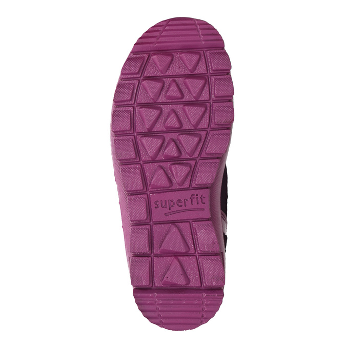 Fialová dívčí zimní obuv superfit, červená, 399-5030 - 17