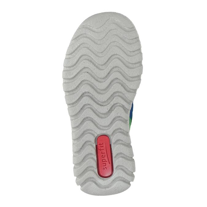 Kožená dětská obuv na suché zipy superfit, modrá, 113-9036 - 17