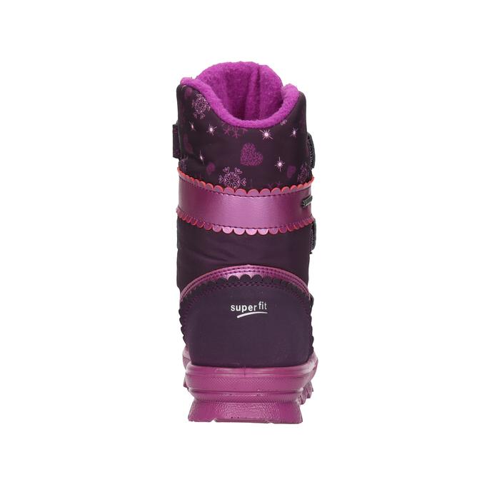 Fialová dívčí zimní obuv superfit, červená, 399-5030 - 16