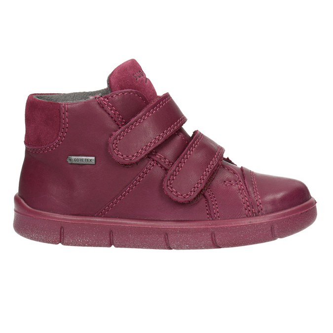 Kotníčková kožená dětská obuv superfit, červená, 124-5037 - 26