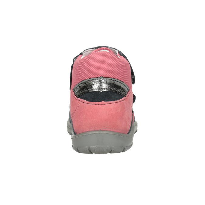 Kotníčková kožená dívčí obuv superfit, šedá, 123-2035 - 16