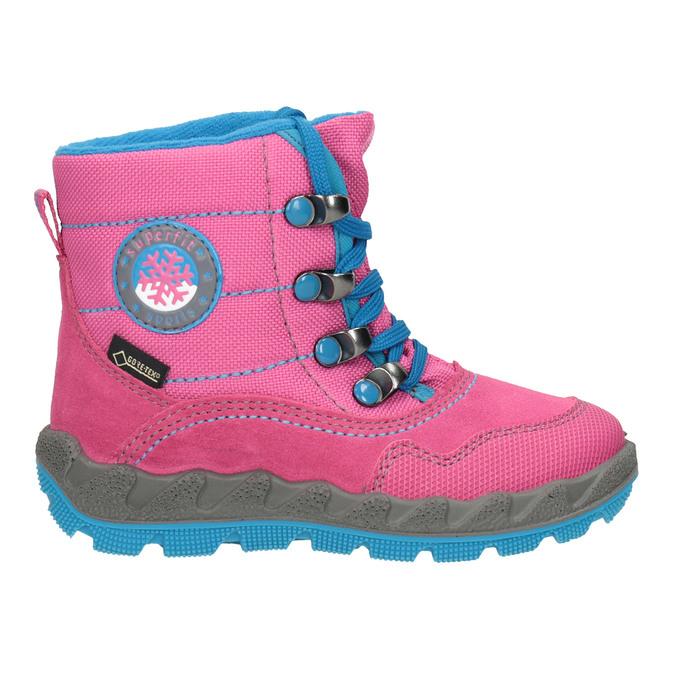 Růžová dívčí zimní obuv superfit, červená, 293-5023 - 26