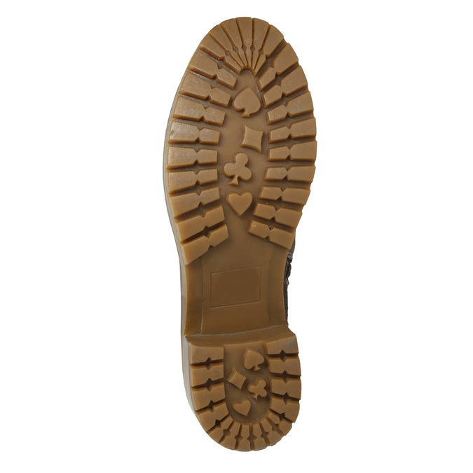 Kotníčková obuv s kožíškem bata, hnědá, 691-2633 - 19