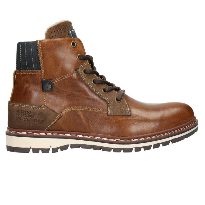Pánská kožená obuv hnědá bata, hnědá, 896-3666 - 15