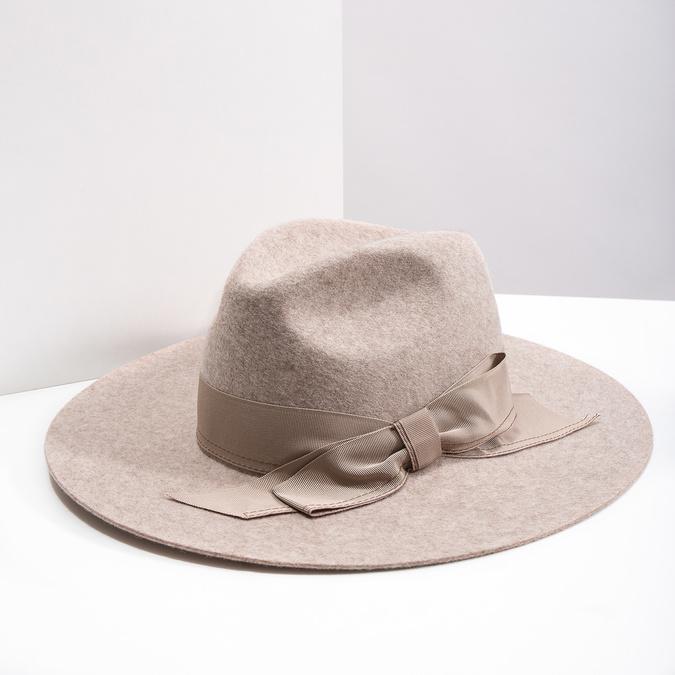 Dámský vlněný klobouk tonak, béžová, 909-8651 - 18