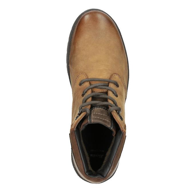 Pánská zimní kožená obuv bata, hnědá, 896-3681 - 15
