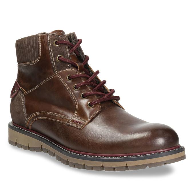 Kotníčková zimní obuv pánská bata, hnědá, 896-4657 - 13