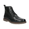 Kožená kotníková obuv se zateplením bata, černá, 896-6662 - 13