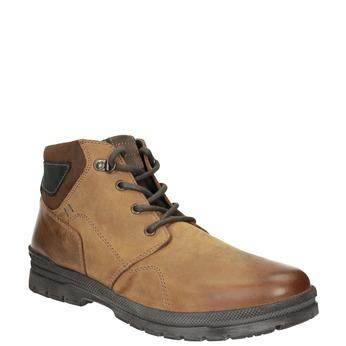 Pánská zimní kožená obuv bata, hnědá, 896-3681 - 13