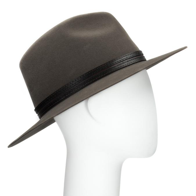Pánský klobouk z králičí srsti tonak, hnědá, 909-3650 - 13