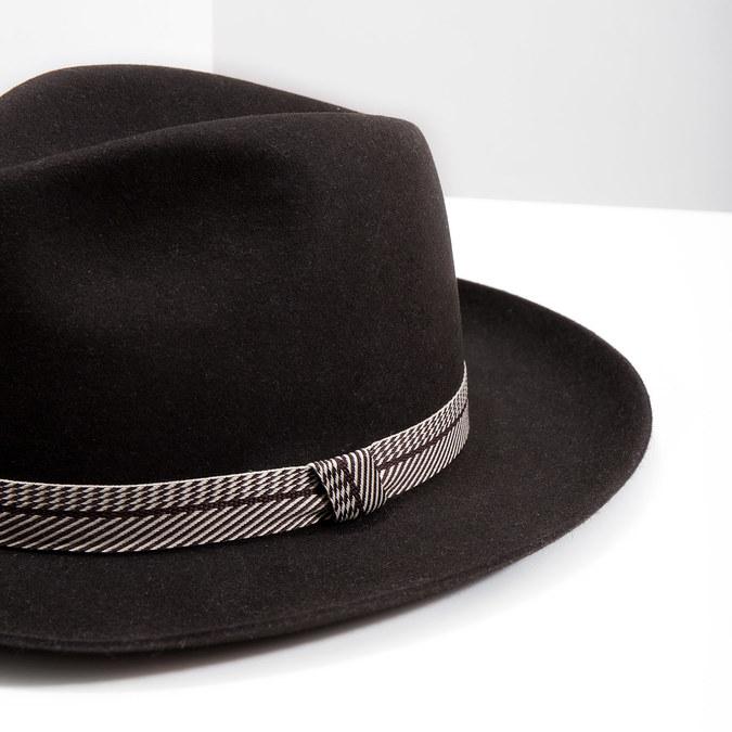 Tmavě hnědý pánský klobouk tonak, hnědá, 909-4654 - 14