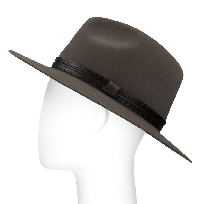 Pánský klobouk z králičí srsti tonak, hnědá, 909-3650 - 26