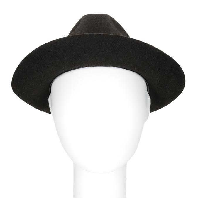 Tmavě hnědý pánský klobouk tonak, hnědá, 909-4654 - 16