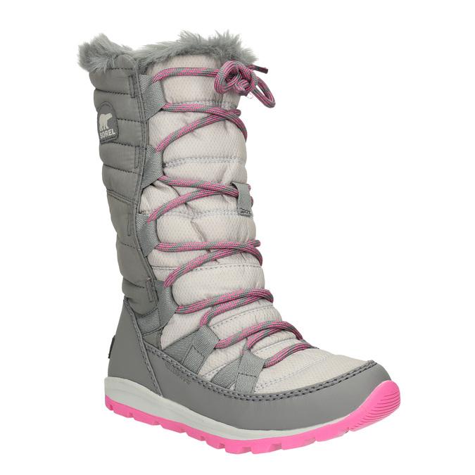 Dívčí šedé sněhule sorel, šedá, 399-2026 - 13