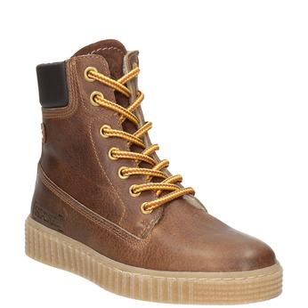 Hnědá dětská zimní obuv mini-b, hnědá, 496-4620 - 13