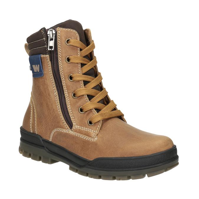 Kotníčková dětská zimní obuv weinbrenner-junior, hnědá, 496-8611 - 13