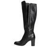 Kožené kozačky na podpatku bata, černá, 794-6648 - 26