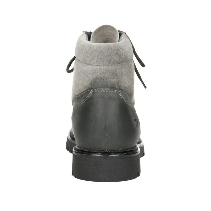Kotníčková dámská kožená obuv weinbrenner, šedá, 596-2672 - 16