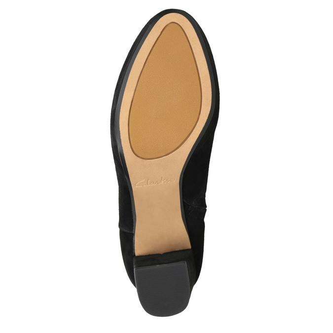 Kozačky z broušené kůže clarks, černá, 793-6035 - 17