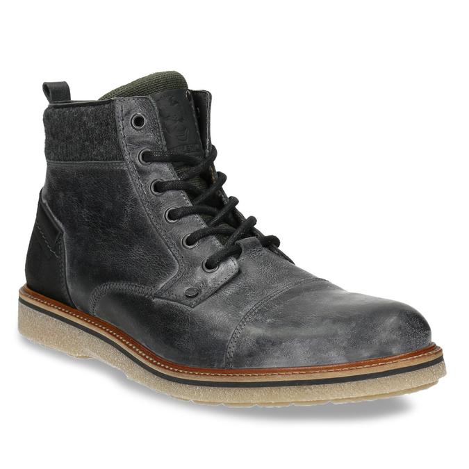 Kožená pánská kotníčková obuv bata, šedá, 896-2669 - 13