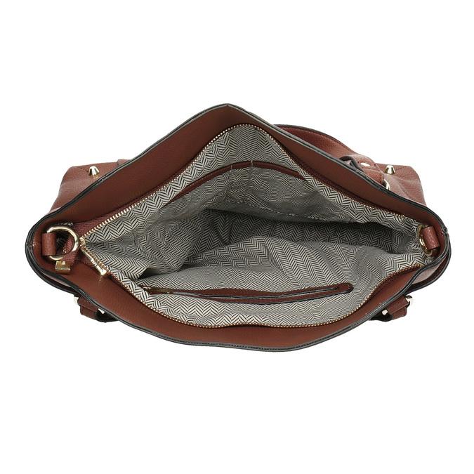 Dámská hnědá kabelka pepe-moll, hnědá, 961-3065 - 15