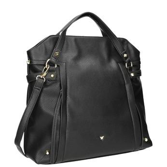 Dámská černá kabelka pepe-moll, černá, 961-6065 - 13