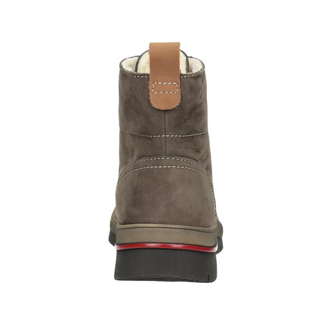 Kožená dámská zimní obuv weinbrenner, hnědá, 596-4666 - 16